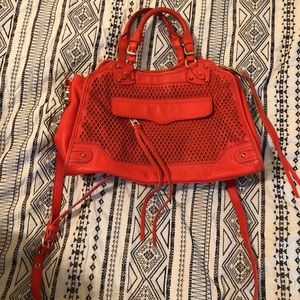 Rebecca Minkoff orange desire satchel